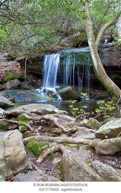 Fort Payne, AL - Apr 2009 - Waterfall in DeSoto State Park at Fort Payne, Alabama