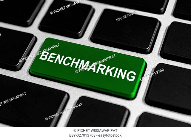 benchmarking button on keyboard, business concept