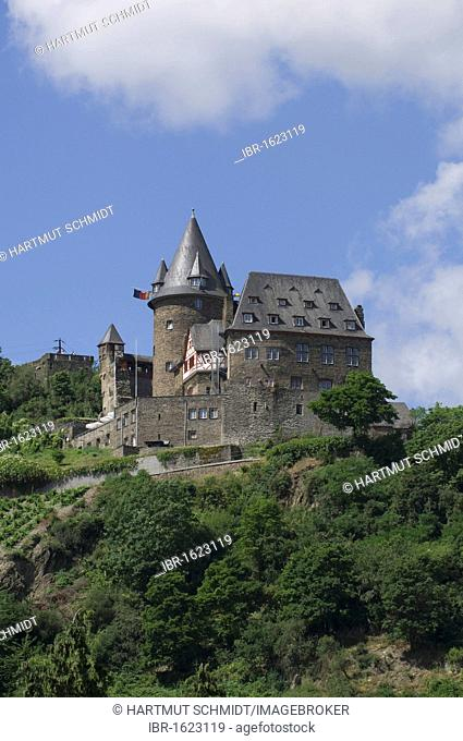 Burg Stahleck Castle, Bacharach, UNESCO World Heritage Cultural Landscape of the Upper Middle Rhine Valley, Rhineland-Palatinate, Germany, Europe