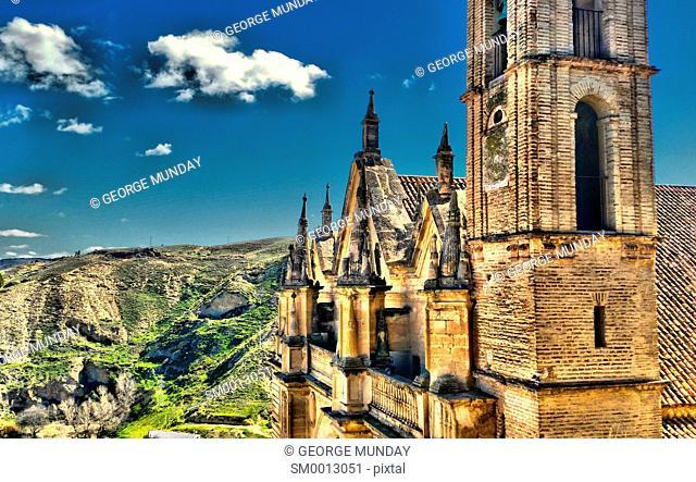 The Royal Collegiate Church in the Alazaba Castle,. Antequera, Malaga Province,. Andalucia, Spain