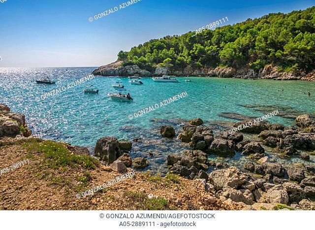 Cala Escorxada Beach. Minorca. Balearic Islands. Spain