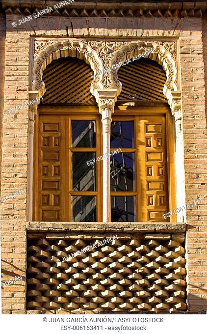 Morish brick window at Granada downtown, Spain