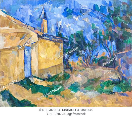 Le Cabanon de Jourdan,Paul Cezanne,1906, oil on canvas, National gallery of modern art, Rome, Italy