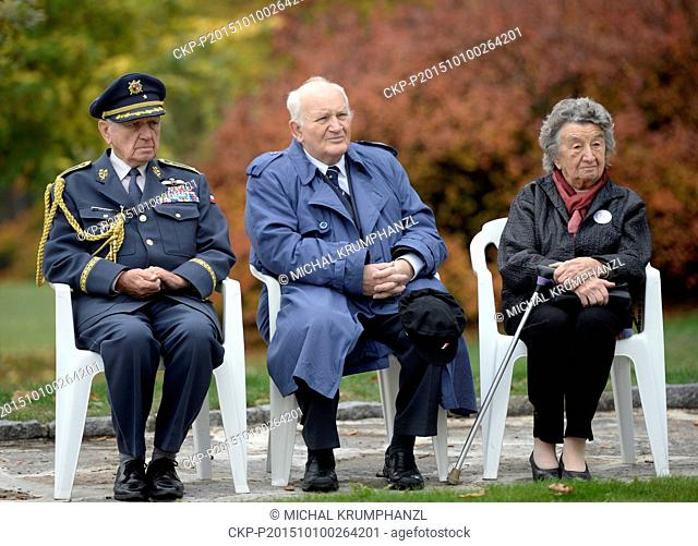 A symbolic foundation stone of a memorial to Czech RAF pilots Josef Horak and Josef Stribrny was laid on the centenary of their birth in Lidice
