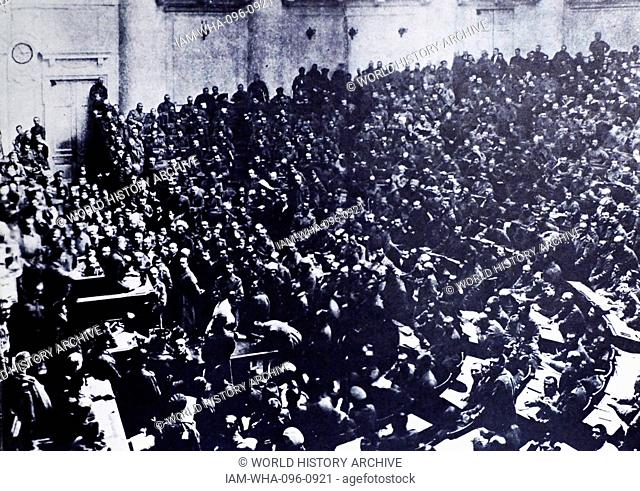 The Petrograd Soviet of Workers' and Soldiers' Deputies; a city council of Petrograd (Saint Petersburg). During the revolutionary days