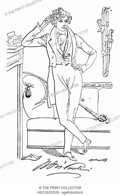 'Benjamin Disraeli', c1835, (1904). After Daniel Maclise, R.A. (1806-1870). Benjamin Disraeli, 1st Earl of Beaconsfield, KG, PC