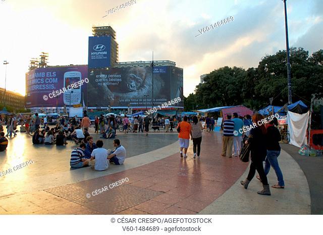 -Movement 15M- Catalonian Square, Barcelona (Spain)