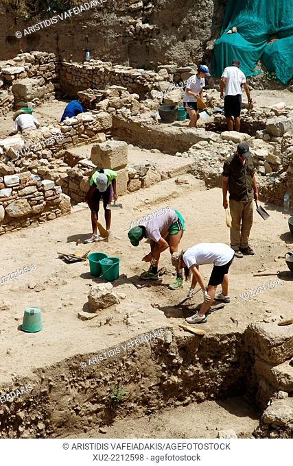 Excavations in old district Plaka in Athens, Greece