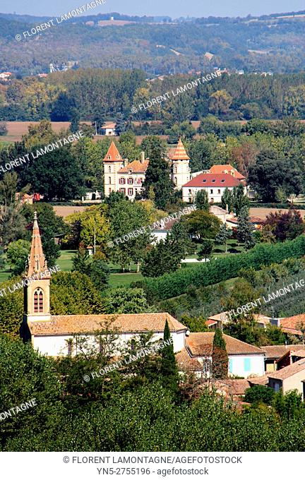 View on village of Espalais, Tarn et Garonne, Occitanie