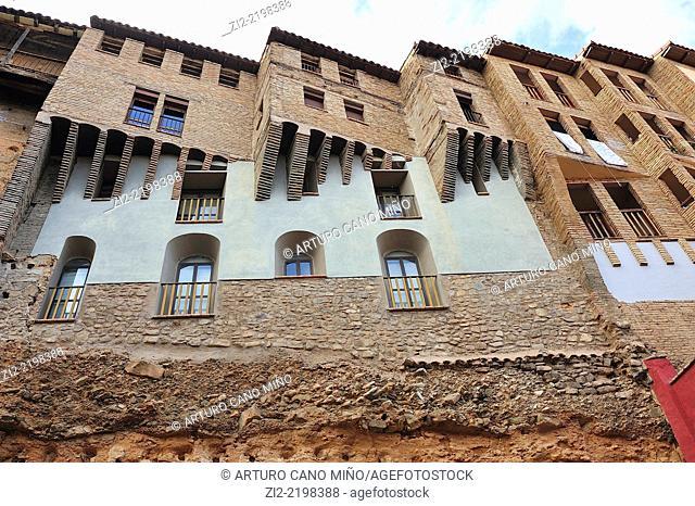 Hanging houses in the Jewish Quarter, Tarazona, Zaragoza province, Spain