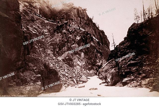 Denver and Rio Grande Railroad at Canyon of Rio Las Animas, Colorado, USA, by William Henry Jackson, circa 1882