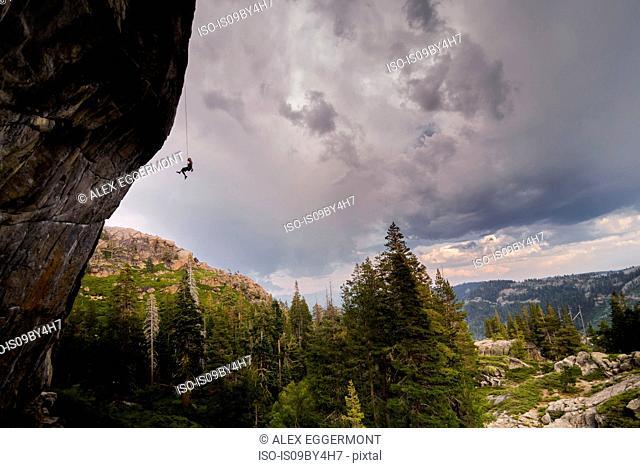 Rock climbing, Truckee, California, United States