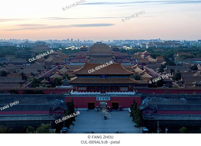 High angle view of Forbidden City, Beijing, China