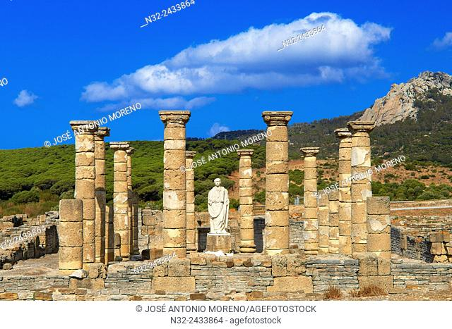 Bolonia, Baelo Claudia, Archaeological site , old roman city , Strait of Gibraltar Natural Park, Costa de la Luz, Cadiz, Andalusia, Spain, Europe