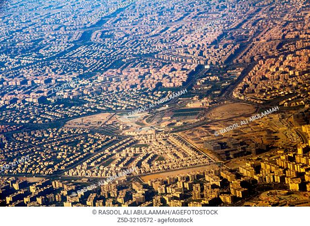 Cairo, Egypt – November 12, 2018: Image from the top of the city of Cairo, the capital of Egypt,