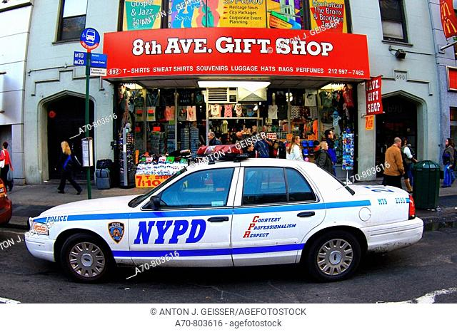 USA, New York City, police car