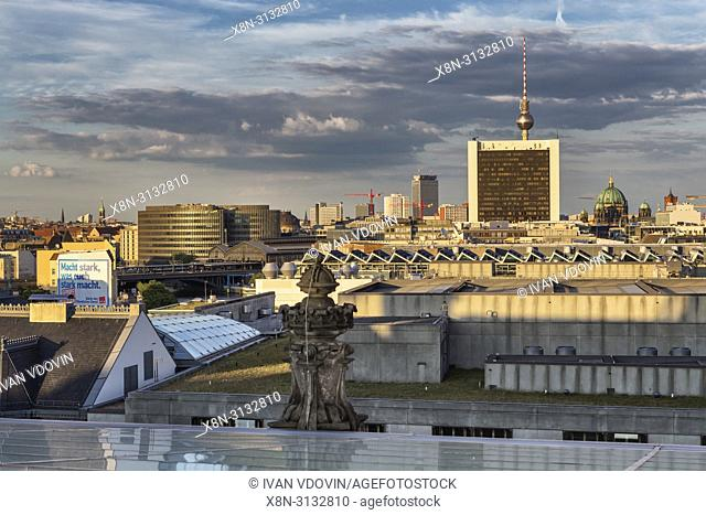 Cityscape from Reichstag building, Berlin, Germany
