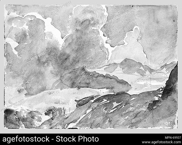 Sky and Mountains. Artist: John Singer Sargent (American, Florence 1856-1925 London); Date: ca. 1909-11; Medium: Watercolor and graphite on white wove paper;...