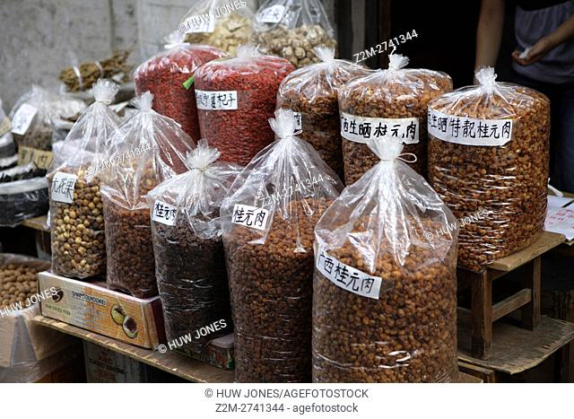 Spices for sale at Peaceful Market, Guangzhou, Canton, China