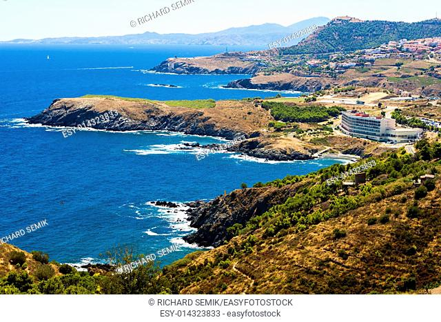 coast of Cote Vermeille, Languedoc-Roussillon, France