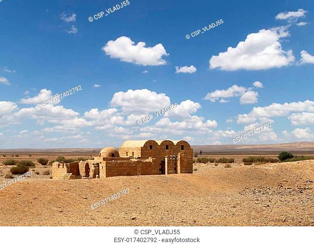 Quseir (Qasr) Amra desert castle near Amman, Jordan. World heritage with famous fresco's. Built in 8th century by the Umayyad caliph Walid II