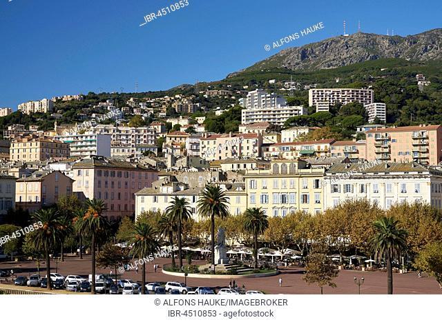 Promenade by the ferry port, Bastia, Corsica, France