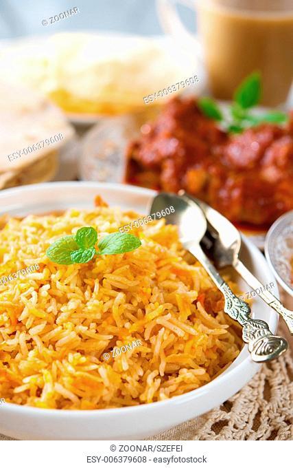 Indian cuisine biryani rice