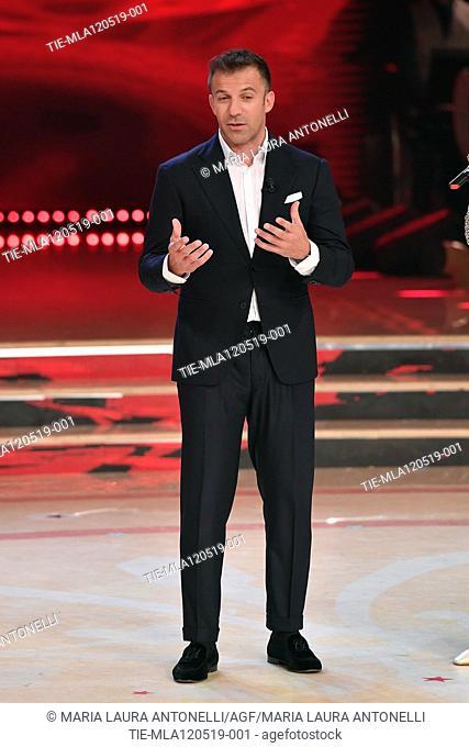 Alessandro (Alex) Del Piero at the tv show Ballando con le setelle (Dancing with the stars) Rome, ITALY-11-05-2019