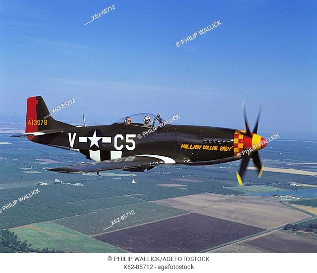 World War II US fighter: 1941 P-51D Mustang, restored