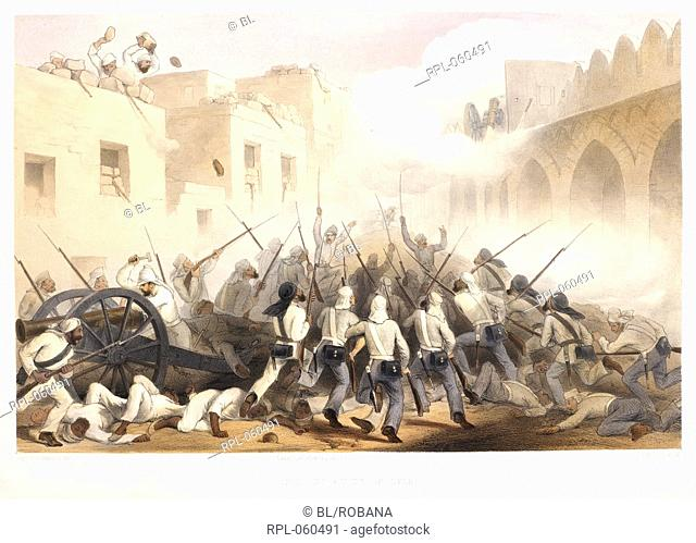 Storming of Delhi. Image taken from The Campaign in India 1857 - 1858. From drawings made during the eventful period of the Great Mutiny