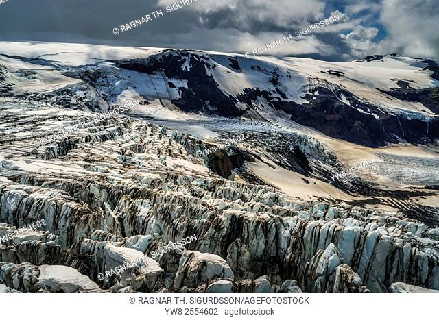 Krossarjokull Glacier, Myrdalsjokull Ice cap, Iceland