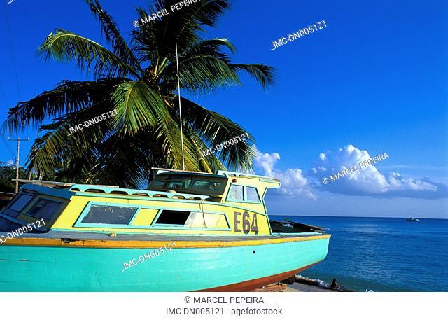 Barbados, six men's bay, boats