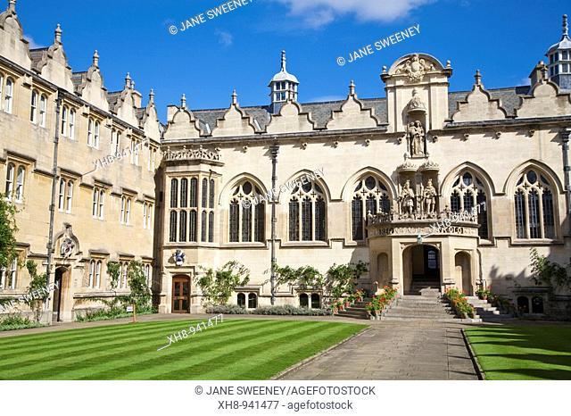 Oriel College, Oxford, Oxfordshire, England, UK