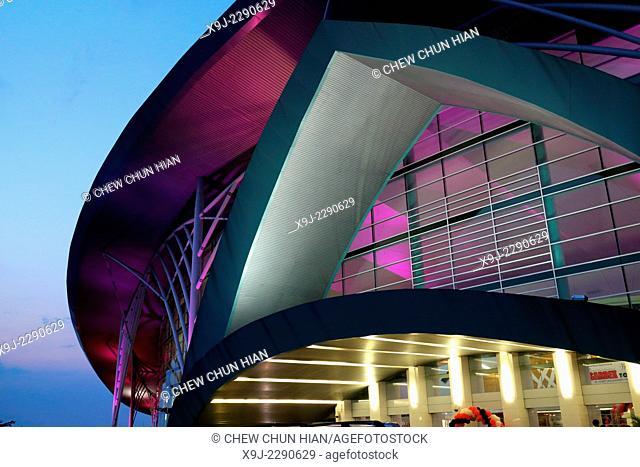 Sphere wall, modern architecture, Modern building, borneo convention center, sarawak