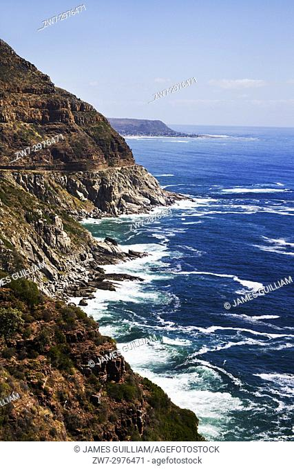 Road up Chapmans Peak Hout bay Nr Cape Town South Africa