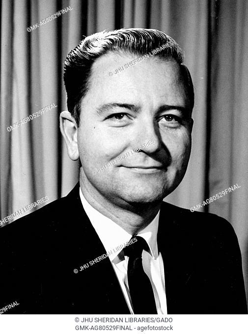 Chest up portrait of Baltimore engineer Vernon LeRoy Dickson, 1965