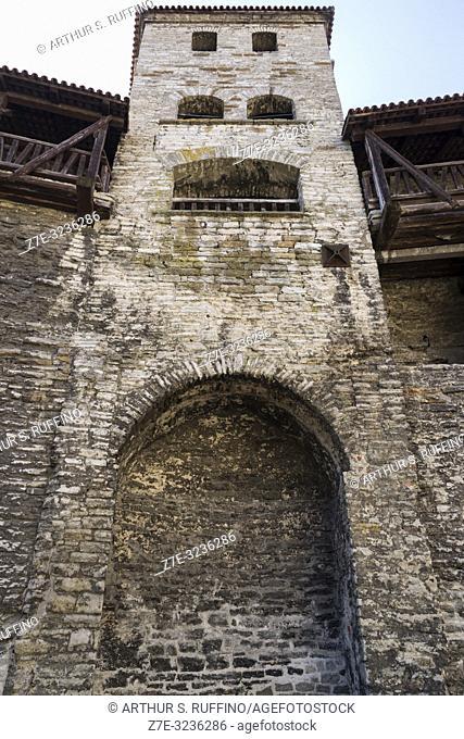 Sauna Tower (Saunatorn). Tallinn City Walls (Tallinna linnamüür). Old Town, Tallinn, Estonia, Baltic States