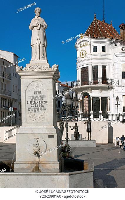 Marques de Aracena square, Aracena, Huelva province, Region of Andalusia, Spain, Europe
