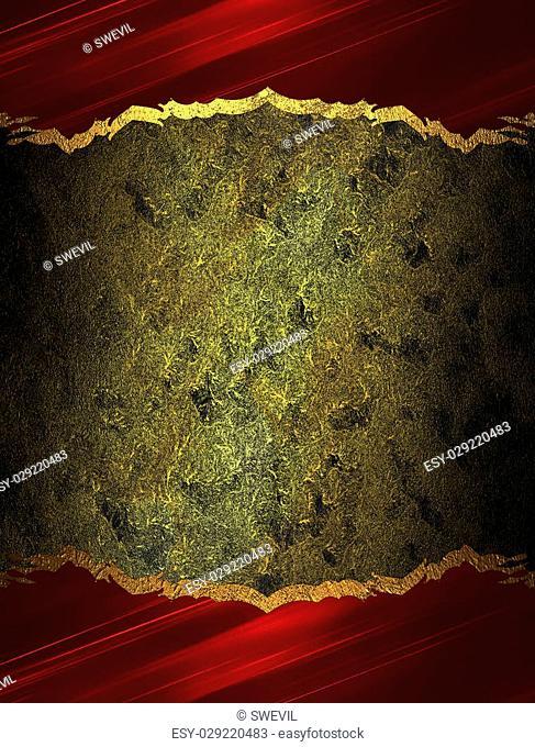 Dark golden background with a red border. Design template