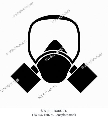 Gas mask it is black color icon