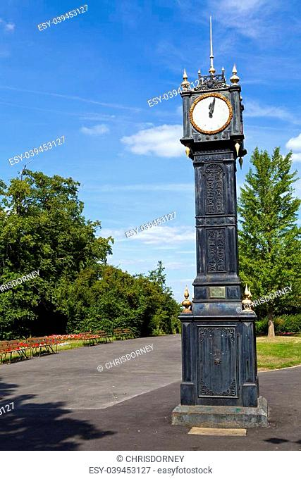 The 'Little Ben' clock in Brockwell Park, London