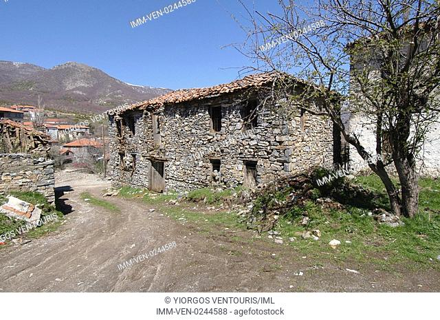 The village of Agios Athanassios. Kaimaktsalan, Edessa, Macedonia Central, Greece, Europe