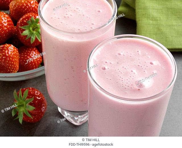 Fat free strawberry smoothie