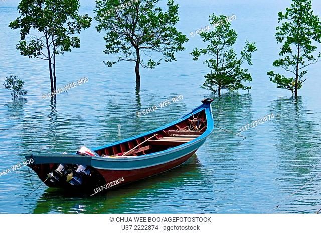 Boat at Sematan, Sarawak, Malaysia