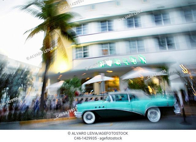 Art Deco hotel, Art Deco District, Ocean Drive, Miami Beach, Florida, USA