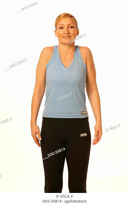 Mobilization of shoulder and neck area against hardening