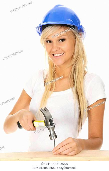Gorgeous Blond Hammering Nails