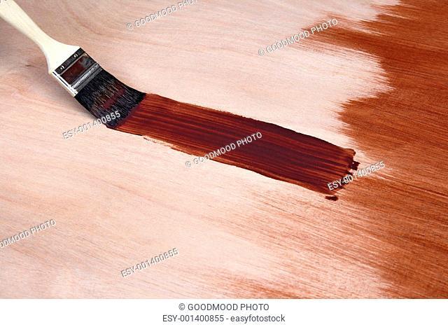 Paintbrush leaving a brush stroke