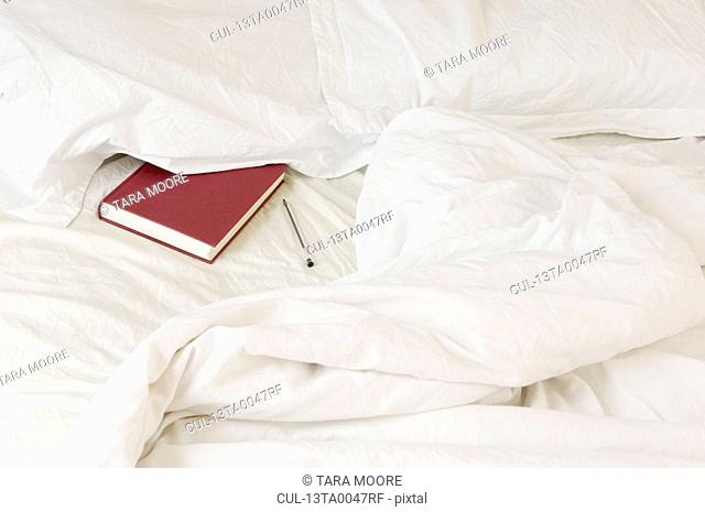 diary tucked under pillow