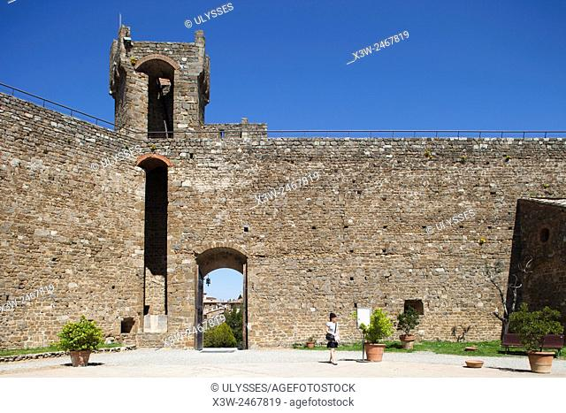 the fortress, Montalcino, Tuscany, Italy, Europe